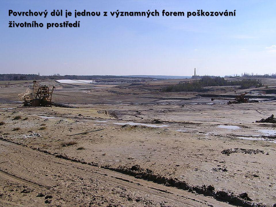 Povrchový důl je jednou z významných forem poškozování životního prostředí
