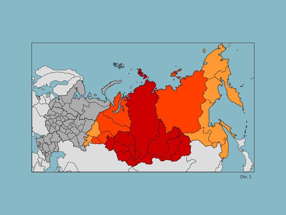 - sever oblasti tundra - dále k jihu pás jehličnatých lesů: tajga - jižněji stepi: pěstování obilí, pastevectví - hospodářské využití ztěžuje permafrost: trvale zmrzlá půda