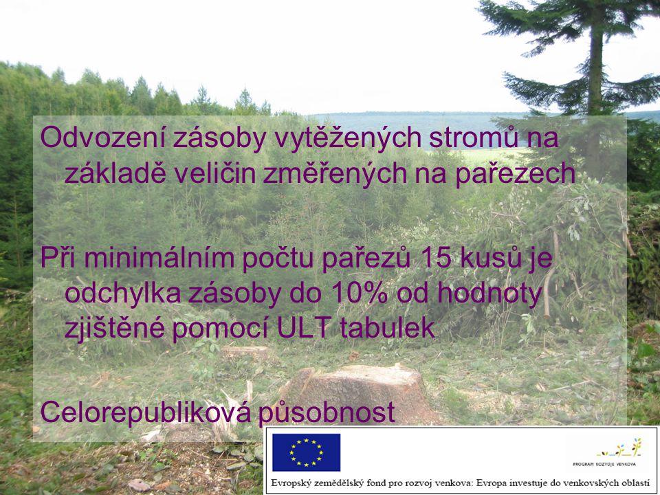 Aplikace k výpočtu zásoby z hodnot naměřených na pařezech www.uhul.cz