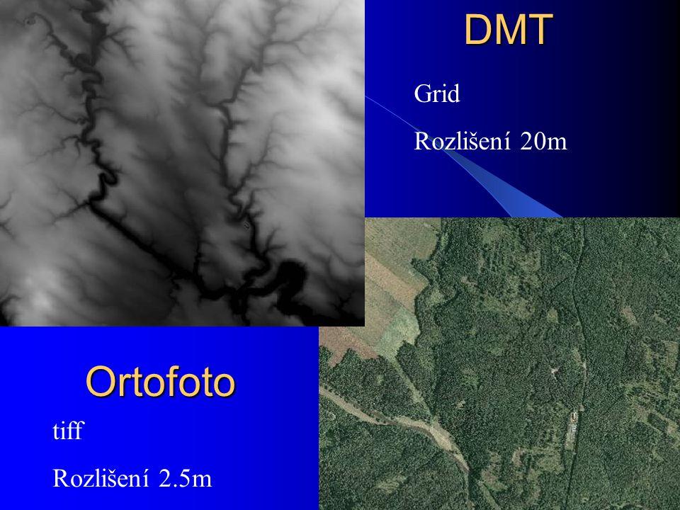 DMTOrtofoto Grid Rozlišení 20m tiff Rozlišení 2.5m