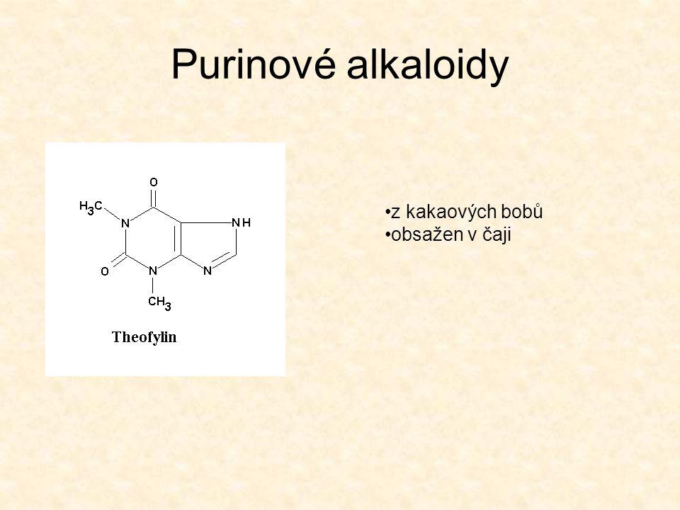 Purinové alkaloidy z kakaových bobů obsažen v čaji