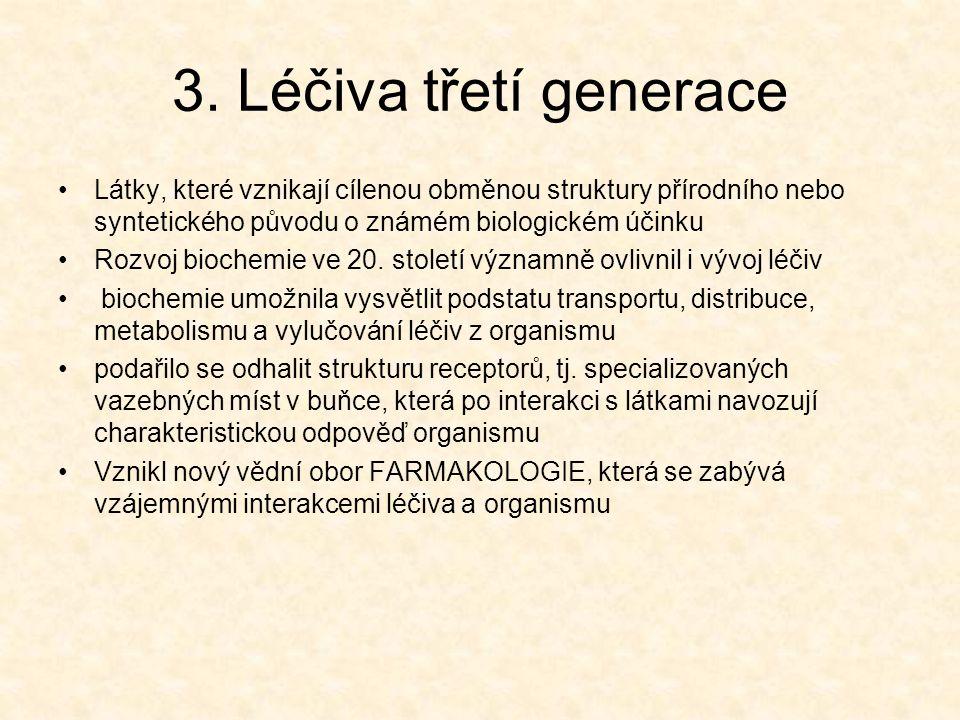 4.Léčiva čtvrté generace Ve 2. polovině 20.