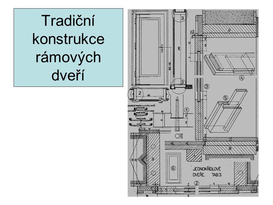 Tradiční konstrukce rámových dveří