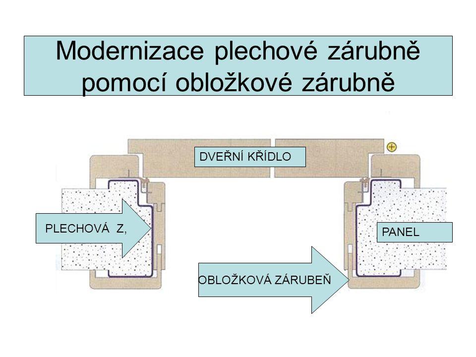 Modernizace plechové zárubně pomocí obložkové zárubně OBLOŽKOVÁ ZÁRUBEŇ PLECHOVÁ Z, PANEL DVEŘNÍ KŘÍDLO