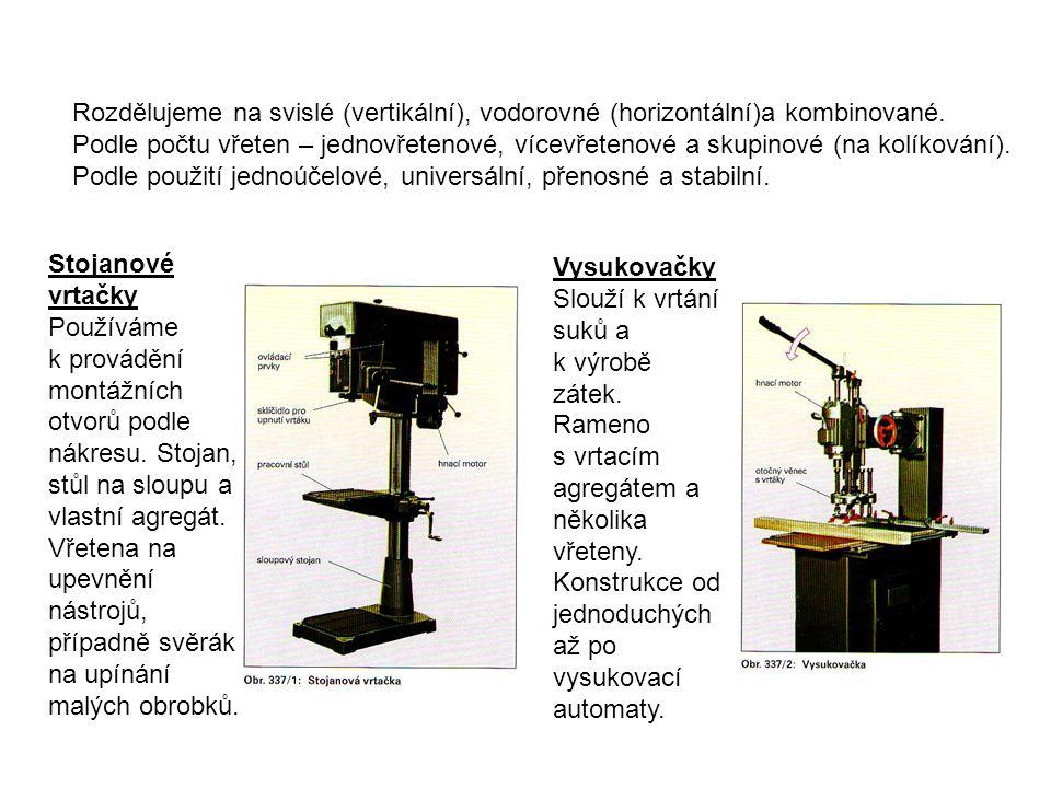 Rozdělujeme na svislé (vertikální), vodorovné (horizontální)a kombinované.