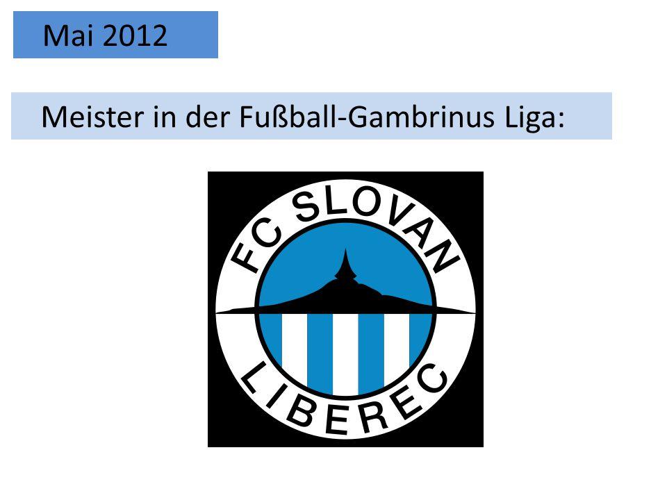 Meister in der Fußball-Gambrinus Liga: Mai 2012
