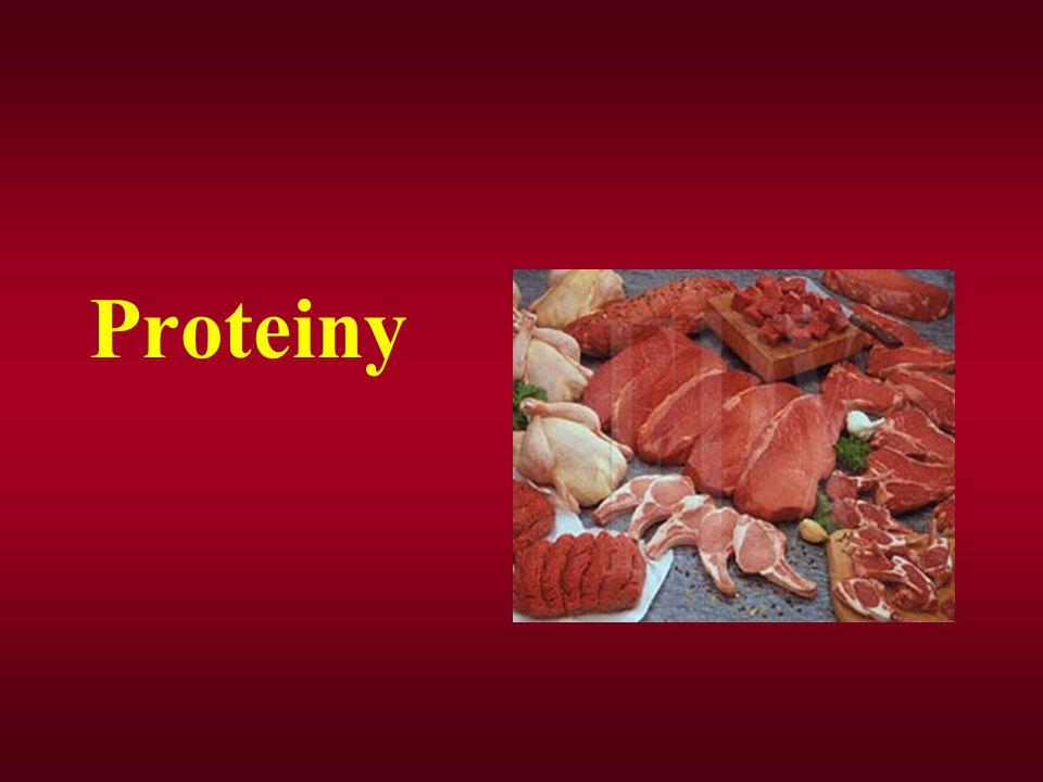 Jedná se o vysokomolekulární látky, proteiny lidského těla jsou k složené asi z 20 aminokyselin.