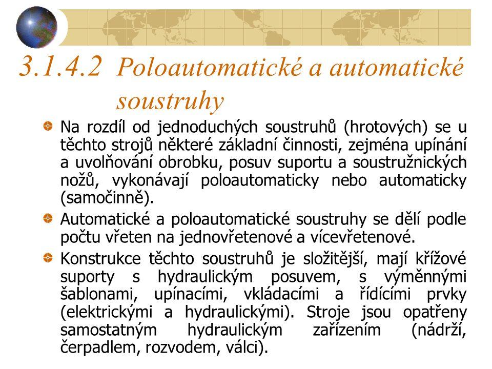 Hrotové soustruhy Hlavní technické údaje stroje : Největší vzdálenost hrotů(mm)1500 Největší výška hrotů(mm)200 Největší průměr soustružených dílců(mm)700 Počet otáček(min -1 )300, 2000, 750, 1200 výkon elektromotoru(kW)1,5 Hmotnost stroje(t)0,37