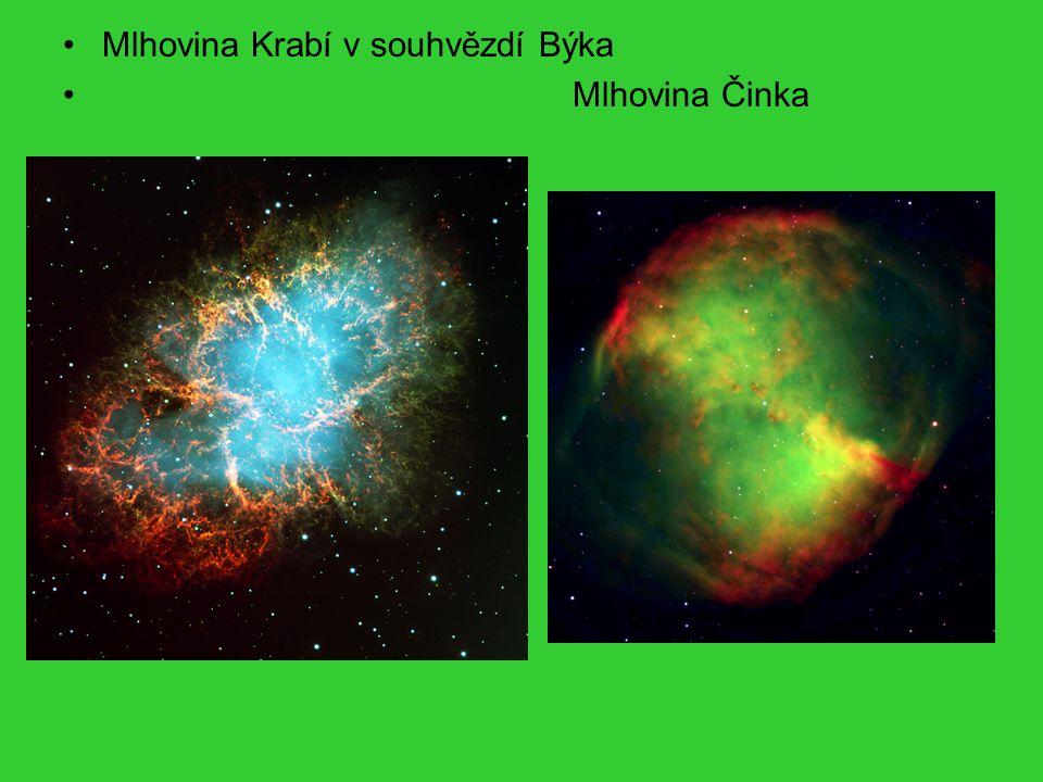 Mlhovina Krabí v souhvězdí Býka Mlhovina Činka
