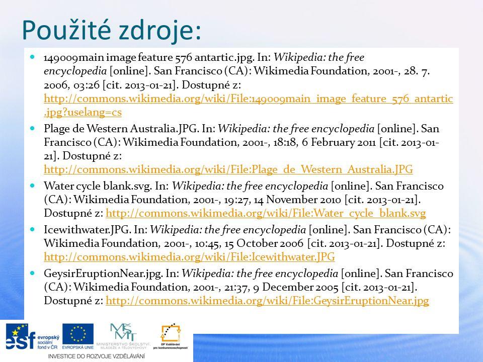 Použité zdroje: 149009main image feature 576 antartic.jpg. In: Wikipedia: the free encyclopedia [online]. San Francisco (CA): Wikimedia Foundation, 20