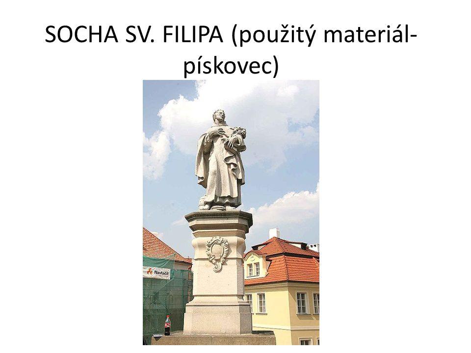 SOCHA SV. FILIPA (použitý materiál- pískovec)