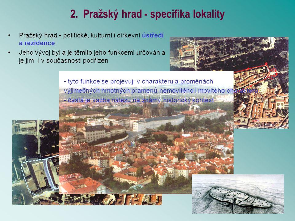 6.Možnosti (1) a meze (2) archeologického výzkumu Pražského hradu.