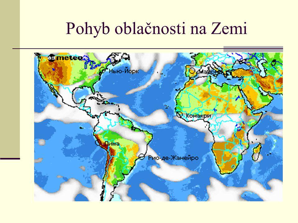 Pohyb oblačnosti na Zemi