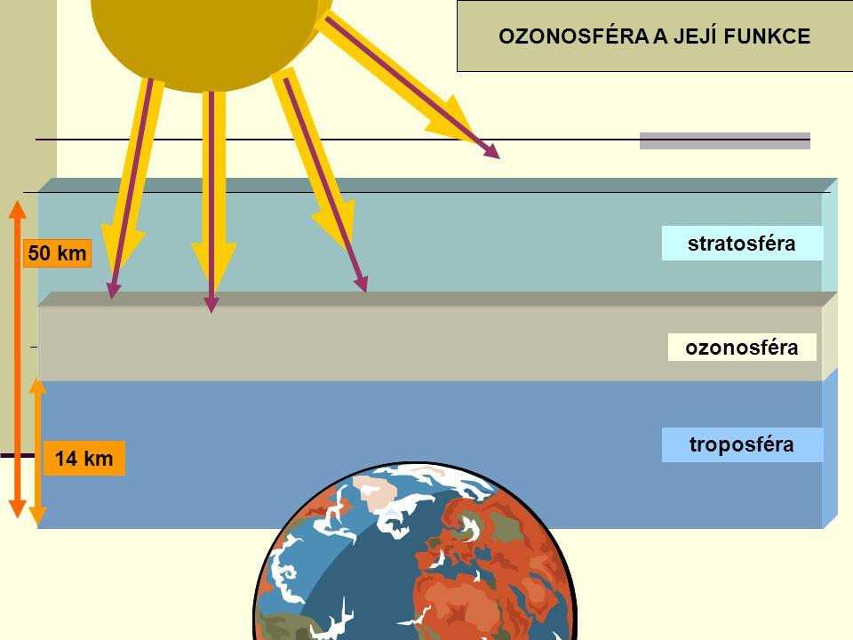 Globální oteplování Země rostoucí obsah CO 2, metanu (CH 4 ) a vodních par v atmosféře znečištění atmosféry – oxid siřičitý (SO 2 ) – vulkanická činnost troposféra nepropouští zpět do vesmíru teplo zemského povrchu OTEPLOVÁNÍ ZEMSKÉHO POVRCHU