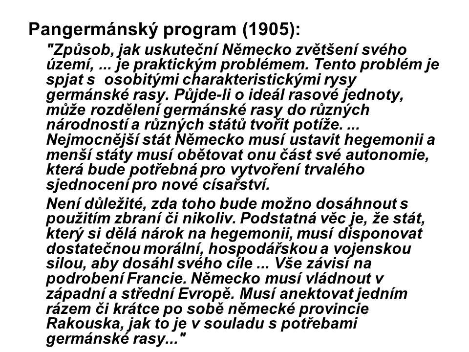 Pangermánský program (1905): Způsob, jak uskuteční Německo zvětšení svého území,...