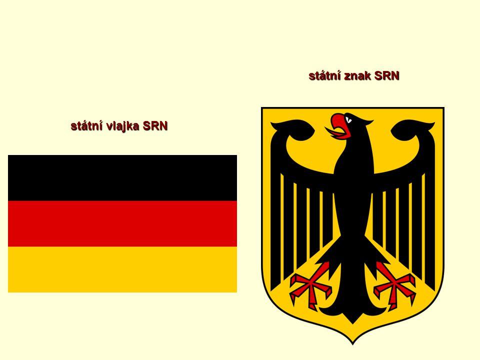 státní vlajka SRN státní znak SRN
