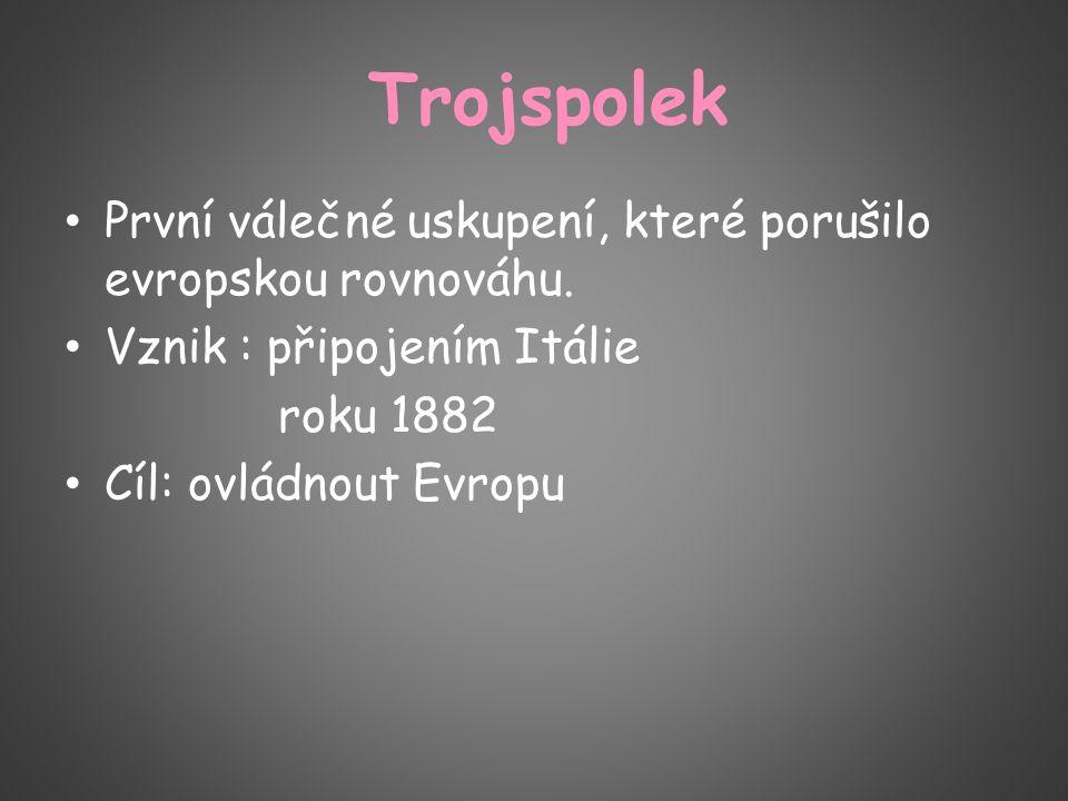 Trojspolek První válečné uskupení, které porušilo evropskou rovnováhu.