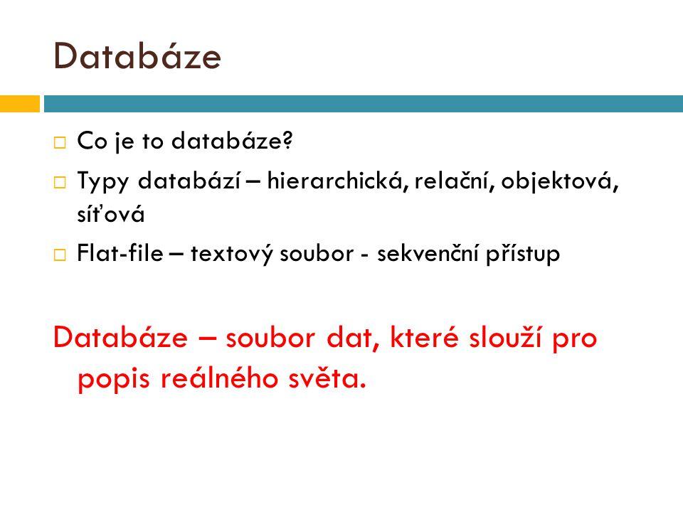 Databáze  Co je to databáze.