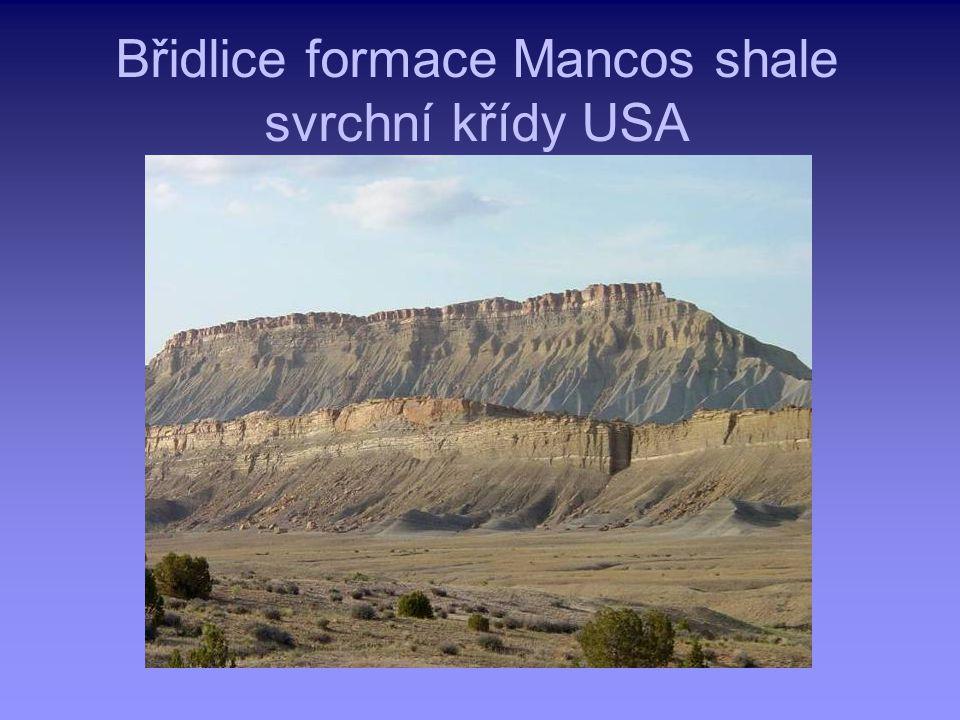 Břidlice formace Mancos shale svrchní křídy USA
