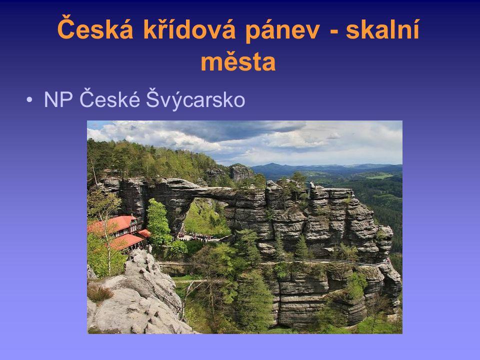 Česká křídová pánev - skalní města NP České Švýcarsko