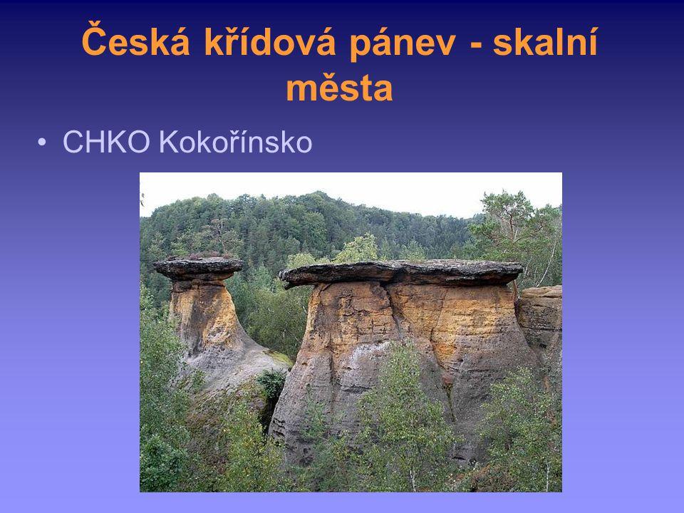 Česká křídová pánev - skalní města CHKO Kokořínsko