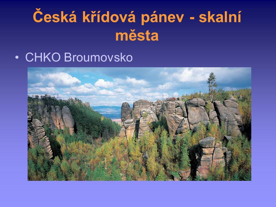 Česká křídová pánev - skalní města CHKO Broumovsko