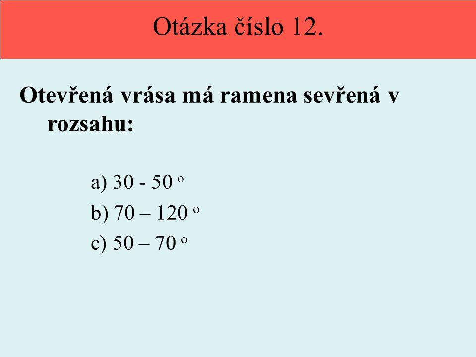 Otázka číslo 12.