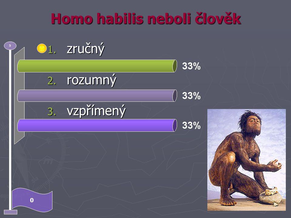Nejstarší druh rodu homo byl 0 5 1. Homo habilis 2. Homo erectus 3. Homo sapiens