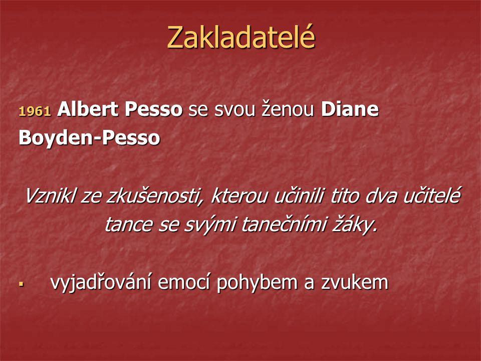 Zakladatelé 1961 Albert Pesso se svou ženou Diane Boyden-Pesso Vznikl ze zkušenosti, kterou učinili tito dva učitelé tance se svými tanečními žáky.