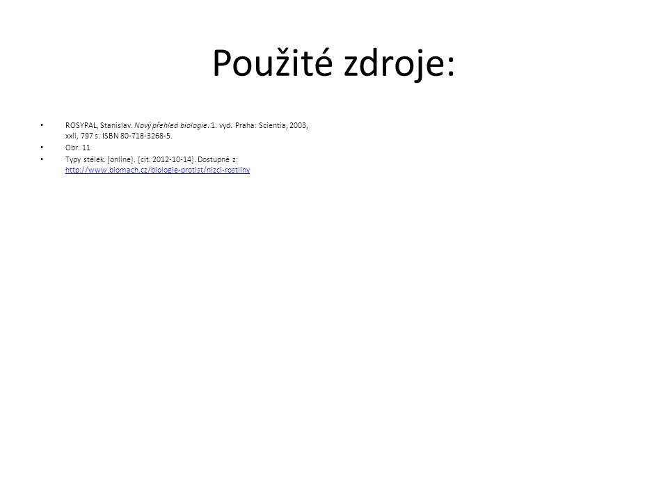 Použité zdroje: ROSYPAL, Stanislav. Nový přehled biologie. 1. vyd. Praha: Scientia, 2003, xxii, 797 s. ISBN 80-718-3268-5. Obr. 11 Typy stélek. [onlin