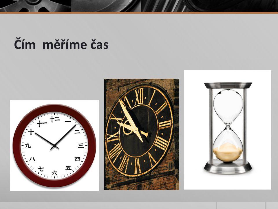 Čím měříme čas