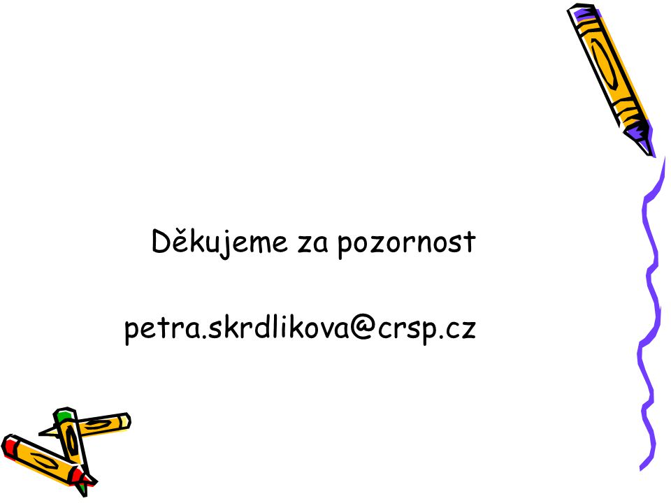 Děkujeme za pozornost petra.skrdlikova@crsp.cz