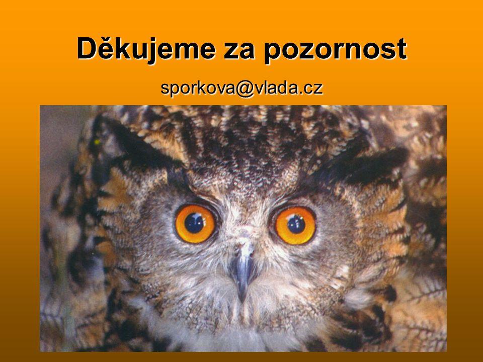 Děkujeme za pozornost sporkova@vlada.cz