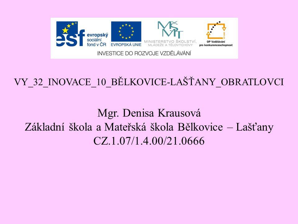 VY_32_INOVACE_10_BĚLKOVICE-LAŠŤANY_OBRATLOVCI Mgr.