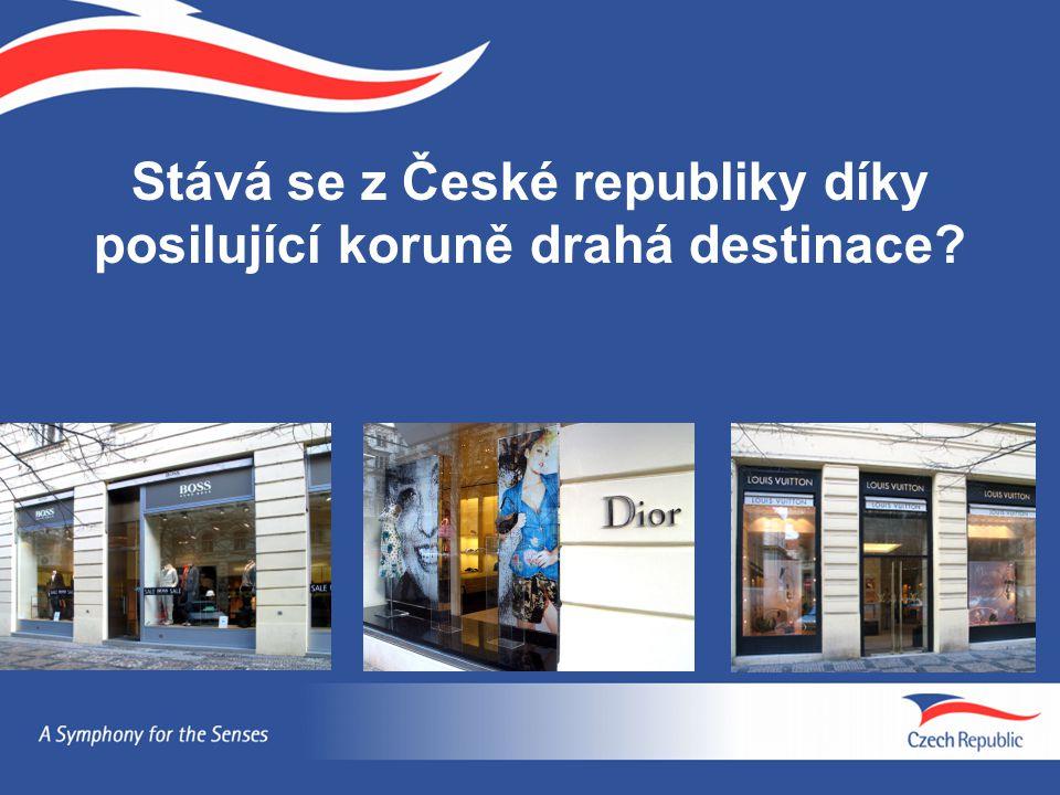 Stává se z České republiky díky posilující koruně drahá destinace