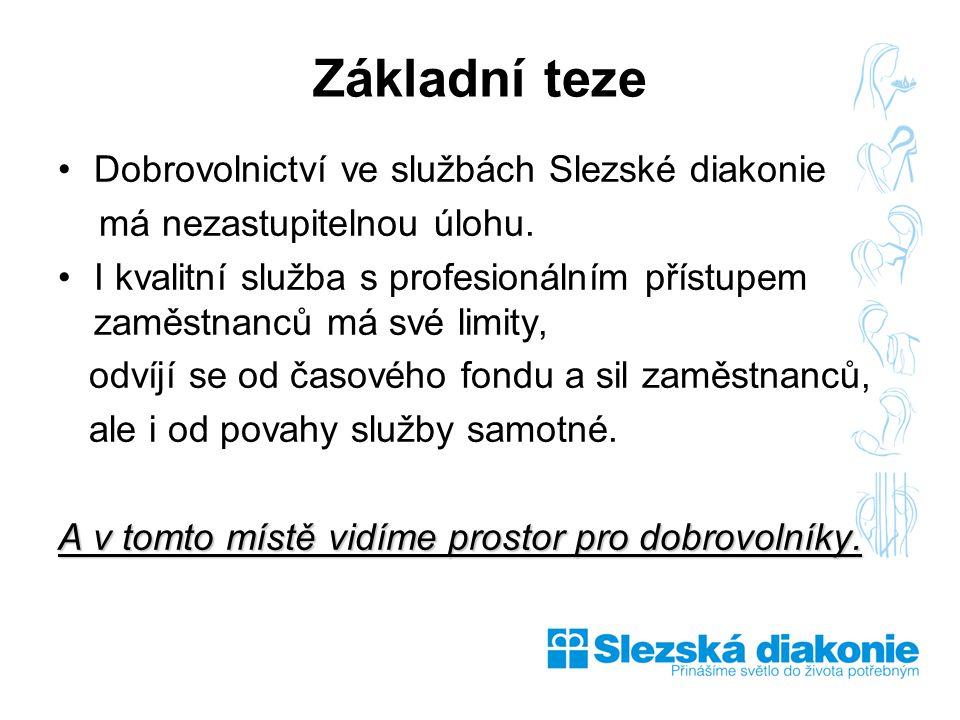 Dobrovolnictví ve službách Slezské diakonie má nezastupitelnou úlohu.