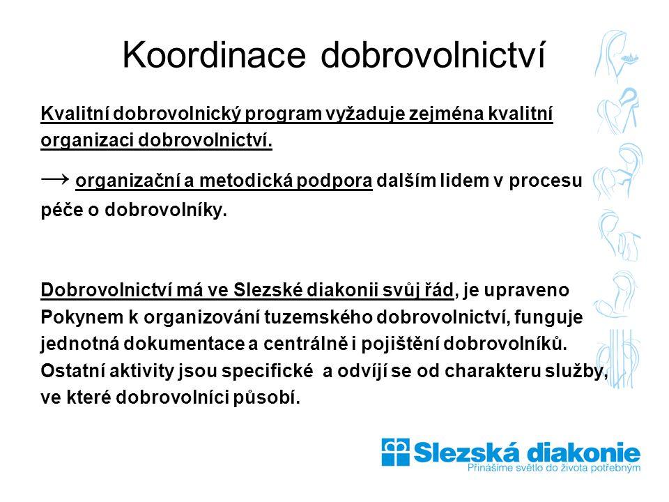 Kvalitní dobrovolnický program vyžaduje zejména kvalitní organizaci dobrovolnictví.
