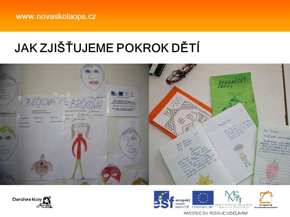JAK ZJIŠŤUJEME POKROK DĚTÍ www.novaskolaops.cz