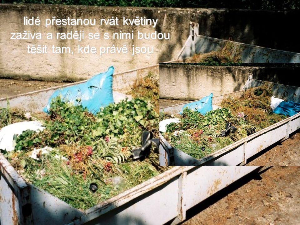 lidé přestanou rvát květiny zaživa a raději se s nimi budou těšit tam, kde právě jsou