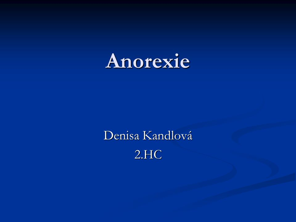 Co je mentální anorexie.