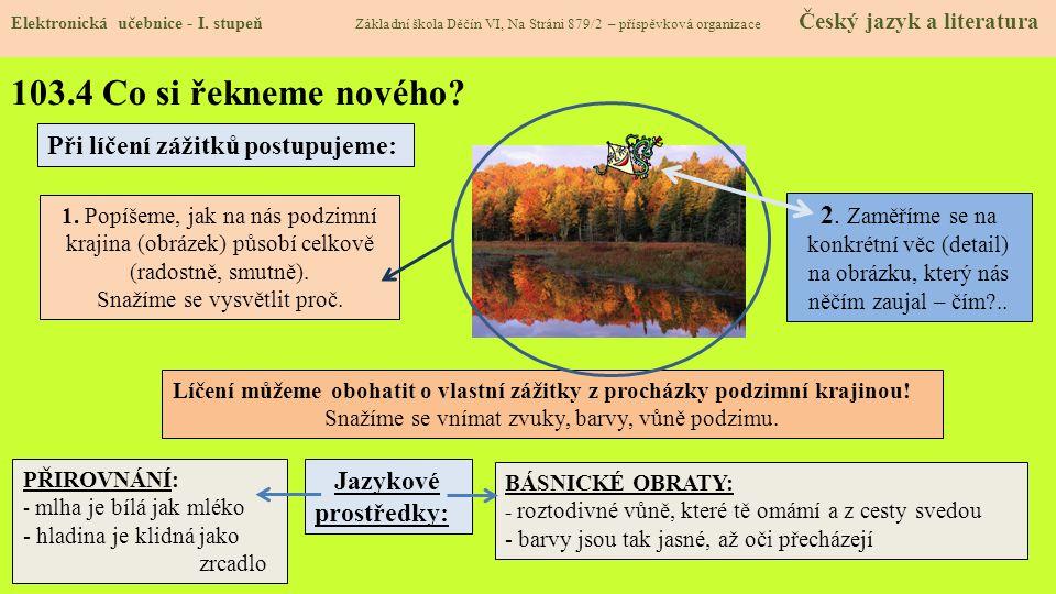 103.5 Procvičení a příklady Elektronická učebnice - I.