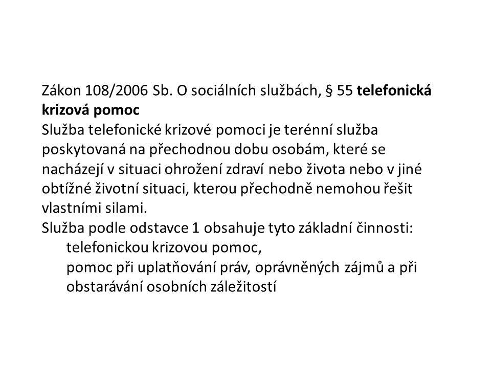 Zákon 108/2006 Sb.