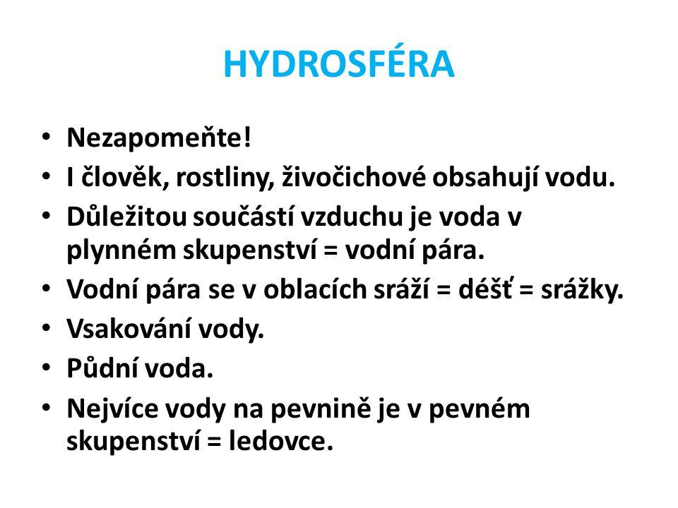 HYDROSFÉRA Nejhlubší jezero = Bajkal