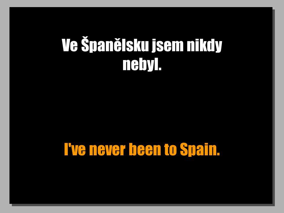 Ve Španělsku jsem nikdy nebyl. I ve never been to Spain.