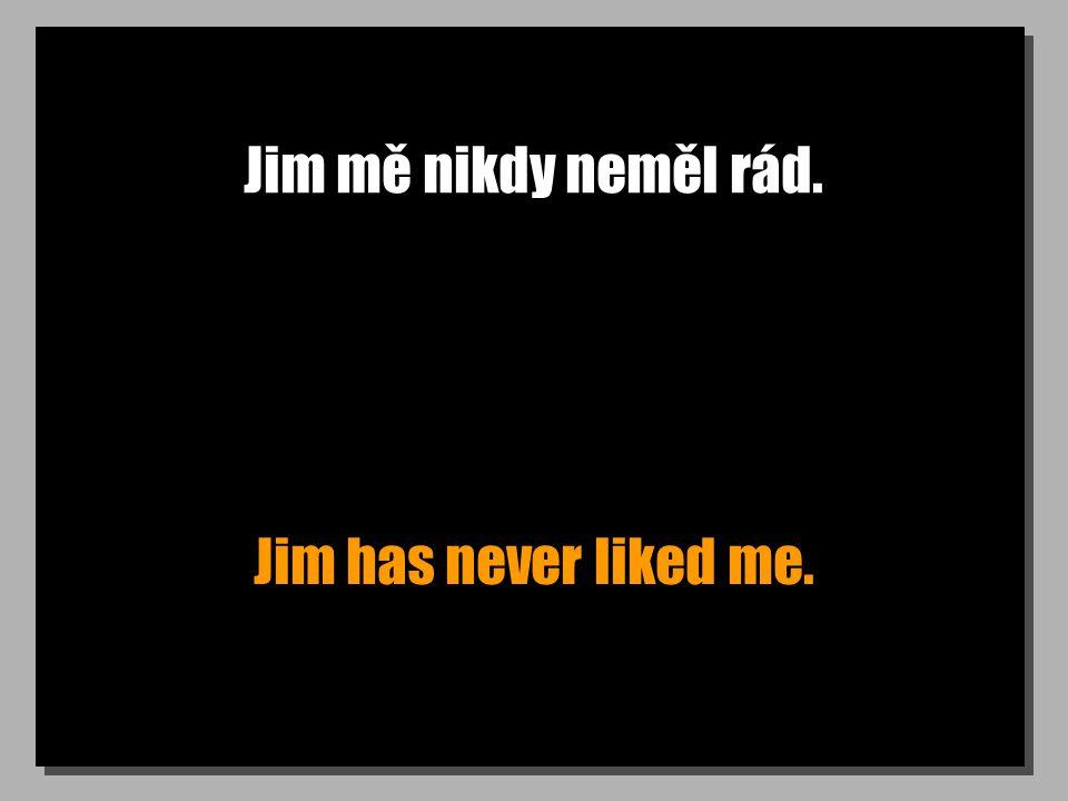 Jim mě nikdy neměl rád. Jim has never liked me.