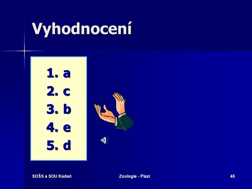SOŠS a SOU KadaňZoologie - Plazi44 Které pojmy spolu souvisí.