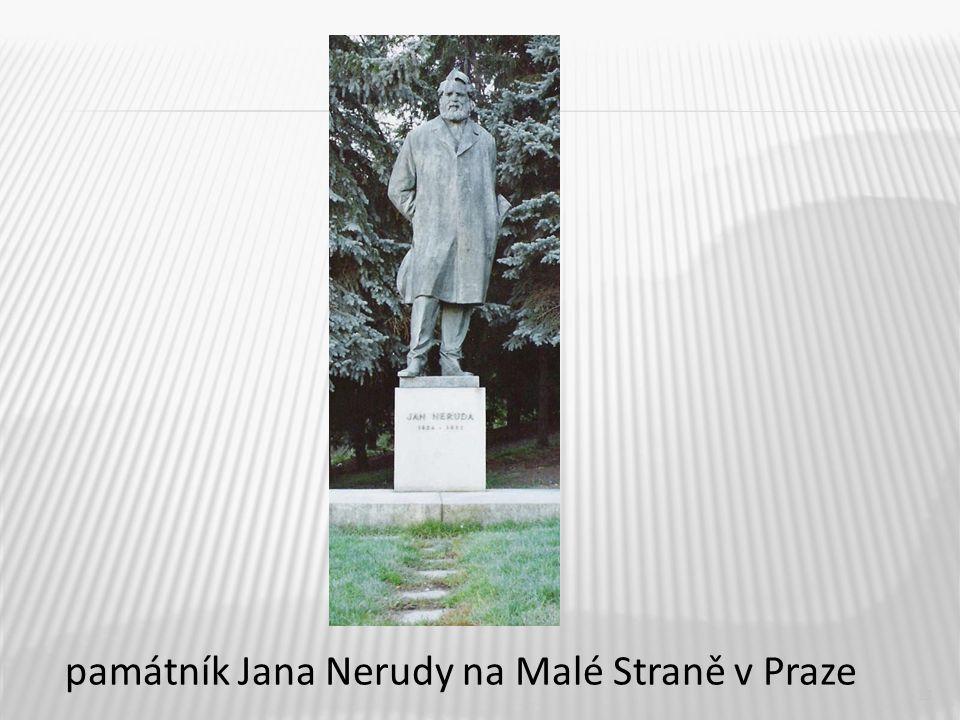 11 památník Jana Nerudy na Malé Straně v Praze
