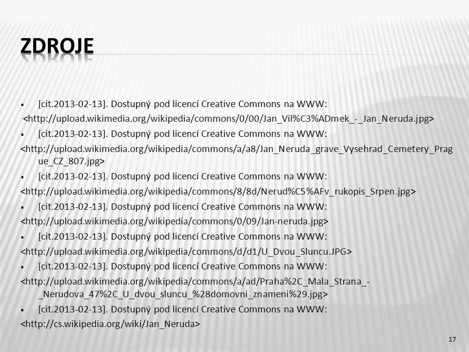 [cit.2013-02-13]. Dostupný pod licencí Creative Commons na WWW: [cit.2013-02-13].