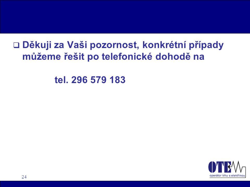 24  Děkuji za Vaši pozornost, konkrétní případy můžeme řešit po telefonické dohodě na tel.
