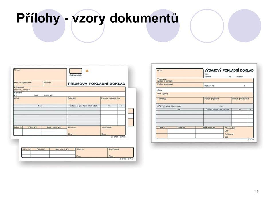 16 Přílohy - vzory dokumentů